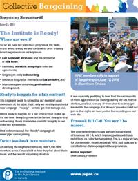 Bargaining Newsletter #6 (PDF)