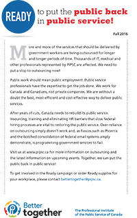 Ready to put the public back in public service! (PDF)